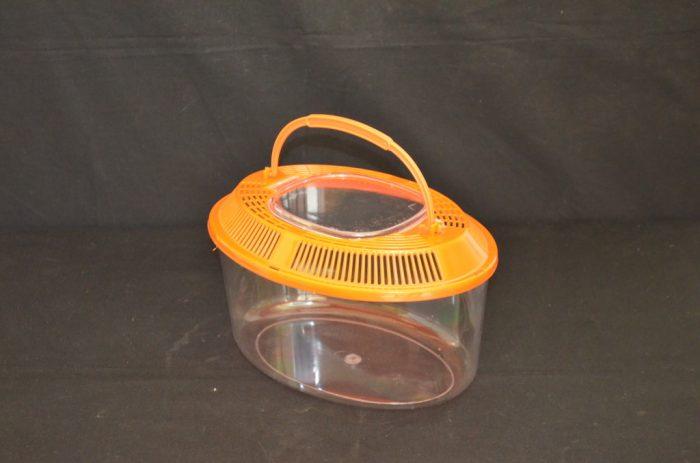Oval plastic terrarium, medium